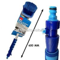 HOZELOCK COMPATIBLE CAR WASH BRUSH QUICK FIT HOSE FITTING SOFT BRISTLES